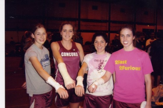 2004: I broke both of my wrists. Surprise surprise. So my teammates put fake casts on to make me stand out less! <3