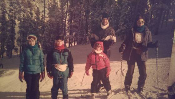 1992: Skiing in Colorado with the family! I'm the little nugget in pink.