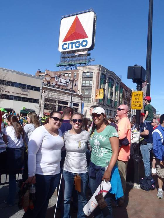 Megan, Jessi, and Colleen by the famous Citgo sign!