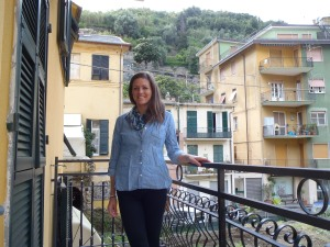 Our balcony in Monterosso!