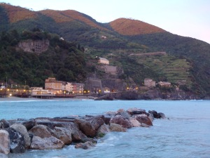 View of the Cinque Terre coastline in Monterosso