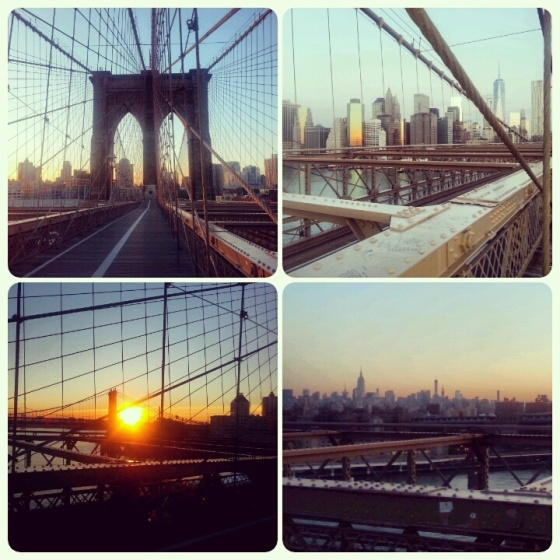 Views from my run over the Brooklyn Bridge in the morning last week. B-e-a-utiful.